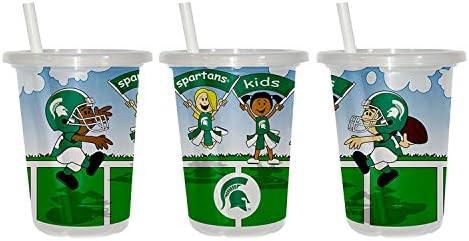 Baby Fanatic NCAA ミシガン州立大学スパルタンズ ユニセックス MST143 Sip n' Go Cup シッピーカップ - ミシガン州立大学、説明を参照、説明を参照してください。
