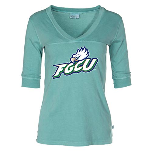 Official NCAA Florida Gulf Coast Eagles - Women's 3/4 Sleeve Football V-Neck Tee