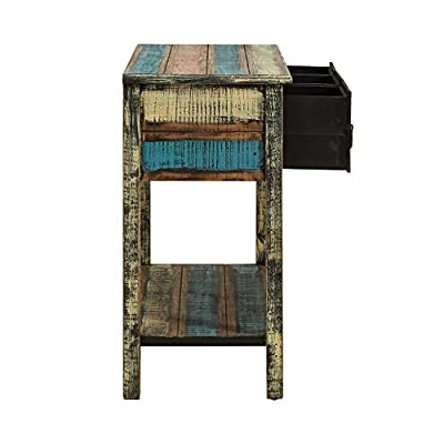 Powell Furniture Calypso Console Table - Antique, weathered look Trendy distressed look Full of unique character - living-room-furniture, living-room, console-tables - 41tjBXX8woL. SS400  -