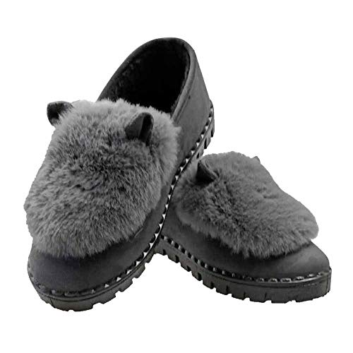Extérieure Li Top Hiver Miss Slip Bottes Fluffy Fausse Low Waterproof Pantoufles Femmes Cotton Greya Shoes Neige Fourrure Sur En De 7ddrUnxz