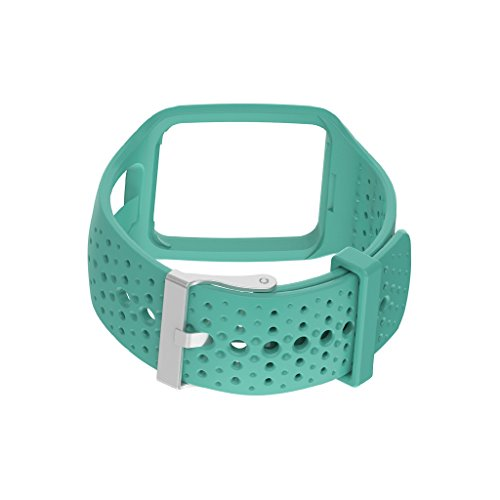 Pinkashop Repalcement Bands for TOMTOM Runner1 /Multi Sport/Cardio band Silicone Sport Band Accessory Bracelet Wristband Strap for TomTom Runner GPS Watch (Black) (Lime Green)