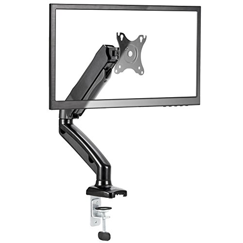 iKross Single Arm Monitor Desk Mount with C Clamp & Grommet