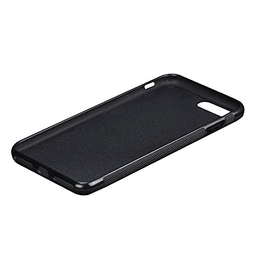 iphone X/8/7plus Case,Real Carbon Fiber +TPU + Soft Touch PC / Lightweight / Anti-Slip / Dirt-resistant / Shockproof / Dustproof / Fashion Design / Full Sides Protective Cover (Black, iphone 7/8plus)