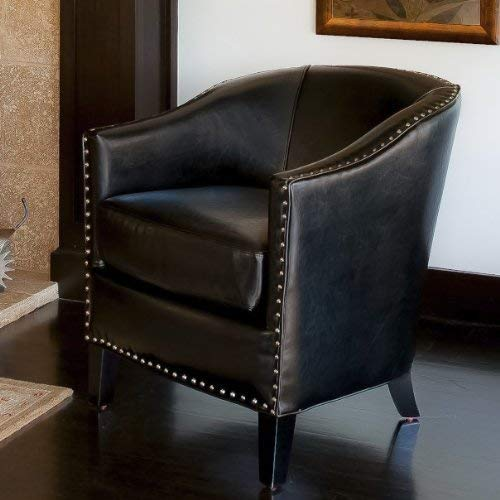 Christopher Knight Home 260819 Carlton | Leather Club Chair | in Black