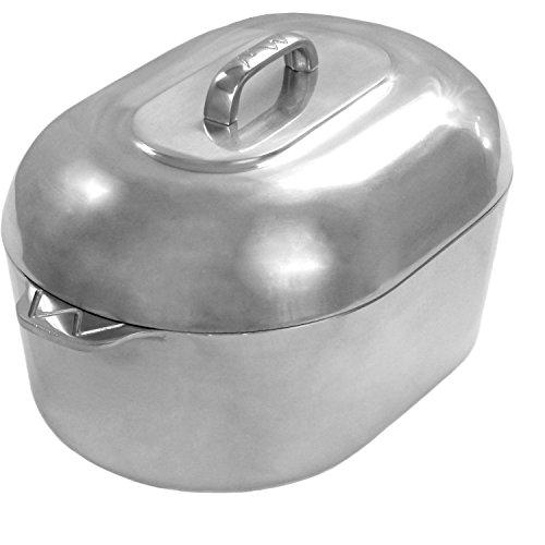 Cajun Cookware Roasters 15 Inch Aluminum Oval Roaster ()