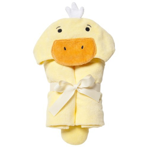 Elegant Baby Bath Time Gift Hooded Towel Wrap, Yellow Ducky by Elegant Baby (Bath Ducky Time Gift)
