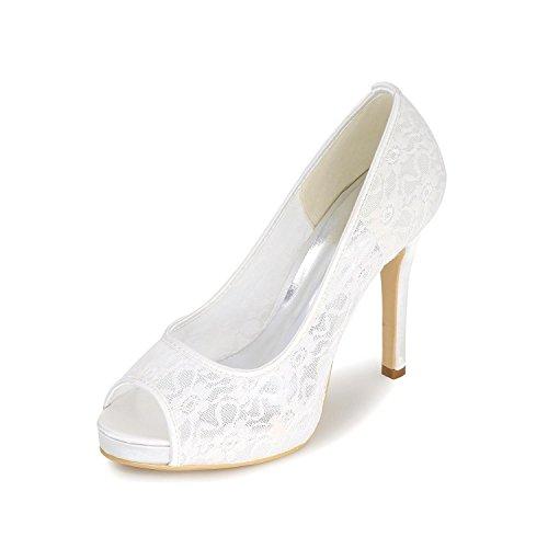 L@YC Zapatos De Boda De Mujer / Tacones altos / Fino Con Sandalias Peep Toe / Fiesta De Noche De MúLtiples Colores Personalizados White