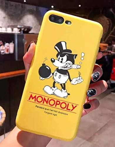 Funda para iPhone 7+ Plus/iPhone 8+ Plus Monopoly Billet Dollars 100 $ Argent USA Amarillo Carcasa de Moviles Caso Silicón: Amazon.es: Electrónica