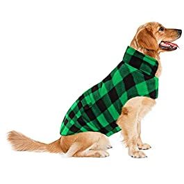 ASENKU Dog Winter Coat, Dog Jacket Plaid Reversible Dog Vest Waterproof Cold Weather Dog Clothes Pet Apparel for Small Medium Large Dogs