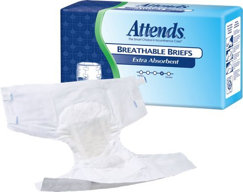 Attends Extra Absorbent Breathable Briefs, Small - Package of 24 Ea Attends Breathable Extra Absorbent