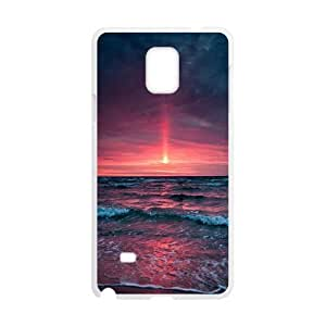 Sexyass Sunset Samsung Galaxy Note 4 Case Pinkish Sunset, Protection Cute Sunset, {White}