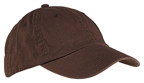 Big Accessories Youth 6-Panel Washed Twill Low-Profile Cap, COFFEE, One Size