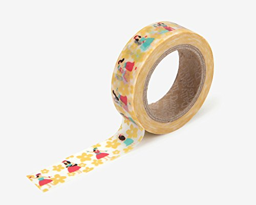 - Premium Washi Tape for DIY, Scrapbook, Planner, Gift Wrapping - Love My Tapes 5/8 Inch Width x 32.8 Foot Length (Hula 103)