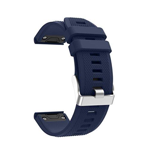 Lisin Replacement Silicagel Soft Quick Release Kit Band Strap For Garmin Forerunner 935 GPS Watch Smart Watch Accessories watchband (Dark Blue)