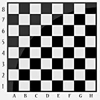Wallmonkeys WM272996 Chessboard Black and White Peel and Stick Wall Decals