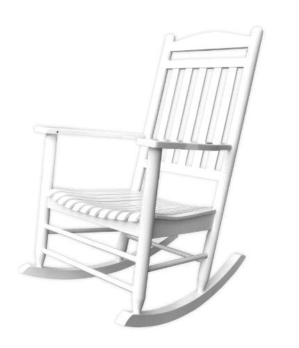 Porch Chair Rocker - Shine Company Maine Porch Rocker, White