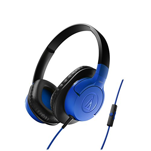 Audio-Technica ATH-AX1iSBL SonicFuel Over-Ear Headphones for