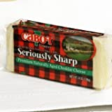 CABOT CHEESE CHEDDAR SERIOUSLY SHARP 8 OZ CHUNK PACK OF 3