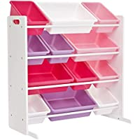 Phoenix Home AVH060501 Storage Bin, White, Pink, Purple, Rose