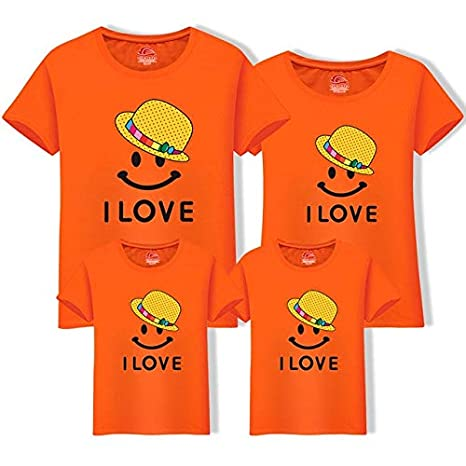 539aed5980e80 Mother Daughter Clothes Father Son Short Sleeve Cotton T-Shirt ...