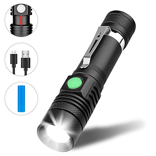 Linterna LED Recargable, Winzwon Linterna Alta Potencia, Linternas Táctica Militar Antorcha Flashlight 4 Modo de luz…