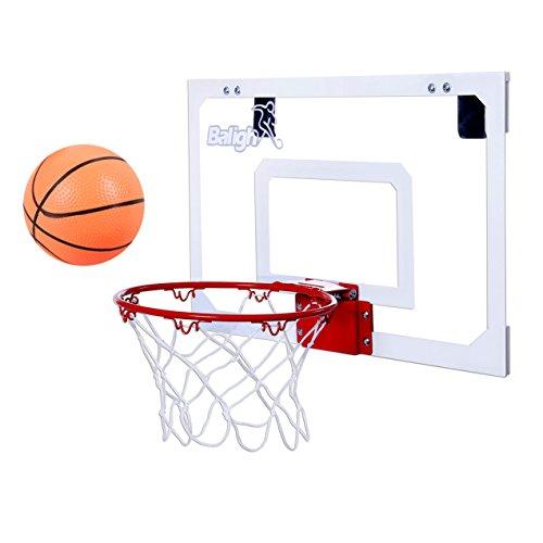 Balight Indoor Mini Basketball Hoop Over The Door with 1 Mini Basketball and 1 Pump Indoor Game