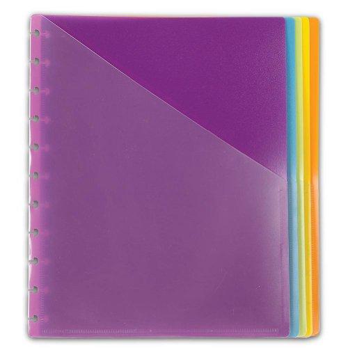 - Levenger Circa Vivacious Pocket Dividers, Letter - Set of 5 (ADS4415 LTR)