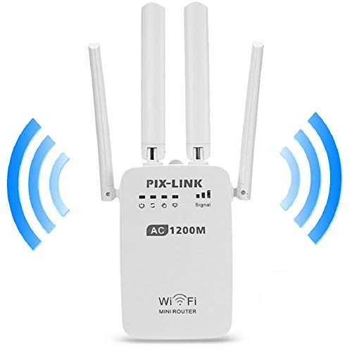 Wifi Router Signal Booster 1200Mbps 2.4GHz en 5.8GHz Dual Band WiFi Repeater Signal Range Extender 4 Antennes 4 werkmodi…