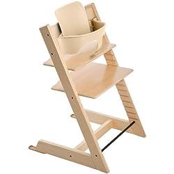 Stokke Tripp Trapp Complete Bundle - 2 Items: Tripp Trapp Highchair & Tripp Trapp Babyset Natural