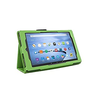 Case for Kindle Fire 7 Inch Tablet - 5th and 7th Generation Fire 7 Folio Case with Stand for New Kindle Fire 7 Inch Tablet - Green