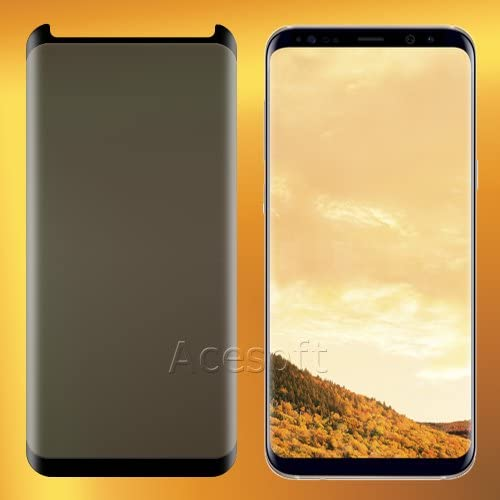 High-Sensitivity Privacy Anti-Spy 3D Curved Anti-Shatter Bubble-Free Tempered Glass Screen Protector Guard Shield Saver Armor Cover for Samsung Galaxy S8 Plus SM-G955U Smartphone