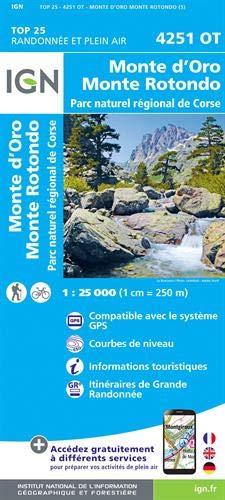 IGN Monte d'oro/Monte Rotondo/PNR De Corse - Carte topographique