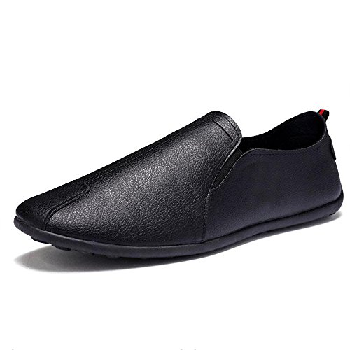 004 Fashion Leather Soft Black Lightweight PU Shoes Women Shoes FZDX Men's New Casual x74wFqAO