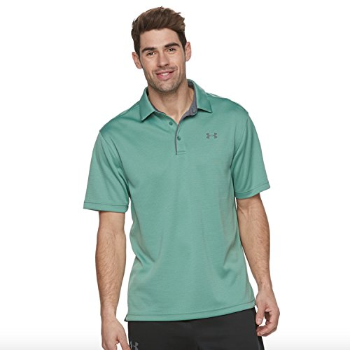 Under Armour Men's Tech Polo (Small, Aegean Green/Graphite) by Under Armour (Image #1)