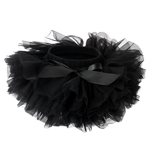 Slowera Baby Girls Soft Tutu Skirt (Skorts) 0 to 36 Months (XL: 24-36 Months, Black)