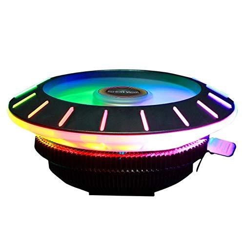 (Blue-Ocean-11 - X120 Colorful RGB CPU Cooler with Downdraft Cooling Fan+Heatsink for LGA 115X/775 FM2/FM1/AM3+/AM4/AM2/940/939/754 Motherboard)
