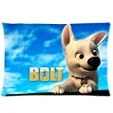 Classic Cartoon Movie Bolt Disney Custom Home Decorative Zippered Pillowcase Pillow Case Cover 16*24 inches (Two Sides Print)