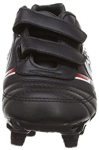 Optimum Tribal 6 Stud, Botas de Fútbol para Niños Negro (Black/Red)