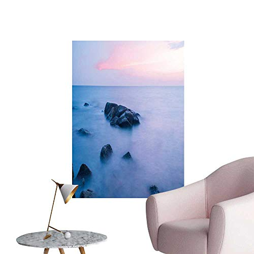 SeptSonne Wall Stickers for Living Room Stone in The sea Vinyl Wall Stickers Print,32