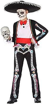 Atosa-55630 Disfraz Esqueleto para Niño Infantil Color negro 3 a 4 ...