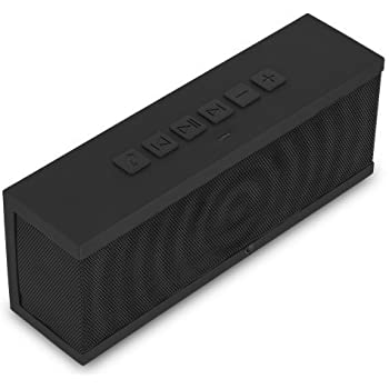 SoundBlock Wireless Bluetooth Stereo Speaker for Computers & Smartphones - Bluetooth 3.0 Technology with Built-in Speakerphone and 10 Hour Rechargeable Battery - Black