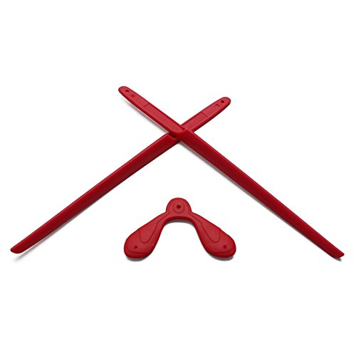 EyeOpeningStuff Replacement Earsocks & Nosepiece Rubber Kits for Rudy Project Rydon Sunglasses (Red, 0)