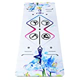 Umineux Yoga Mat – Natural Rubber Eco Friendly 5mm Extra Thick Yoga Mat, Non Slip Suede 2-in-1 Mat&Towel, Premium Print Exercise Fitness Mat with Carrying Strap&Bag for All Types of Yoga