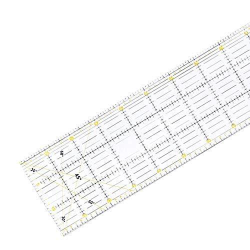 ClookYuan Regla de remiendo regla especial de corte 60 cm x 15 cm de espesor herramienta de mano de 3 mm Dos colores gran regla rectangular