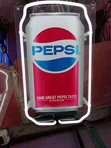 Neon princess Factory 24x20 inches Pepsi Real Glass Tube Neon Light Home Beer Bar Pub Recreation Room Game Lights Windows Signs ()
