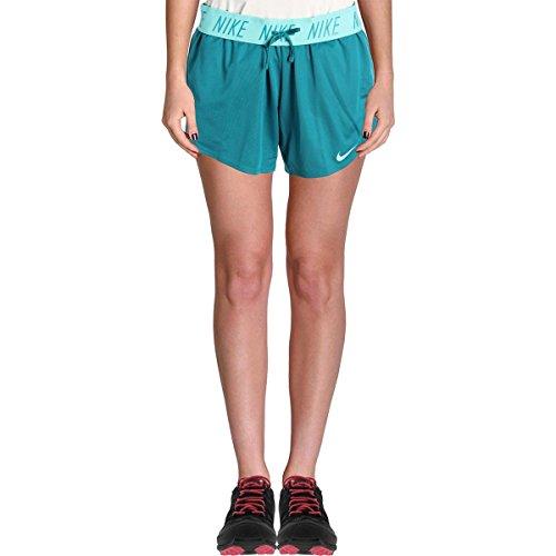 - NIKE Womens Dry Training Logo Shorts Green S
