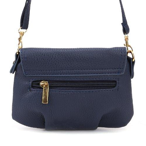 Bolso de Bandolera para Mujer con solapa Tamaño Pequeña Color Azul Oscuro