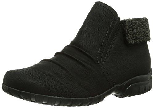 Rieker L4684, Damen Kurzschaft Stiefel, Schwarz (schwarz/anthrazit/00), 39 EU (6 Damen UK)