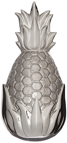 Hospitality Pineapple Door Knocker - Nickel Silver (Standard Size) (Pineapple Brass Door Knocker)