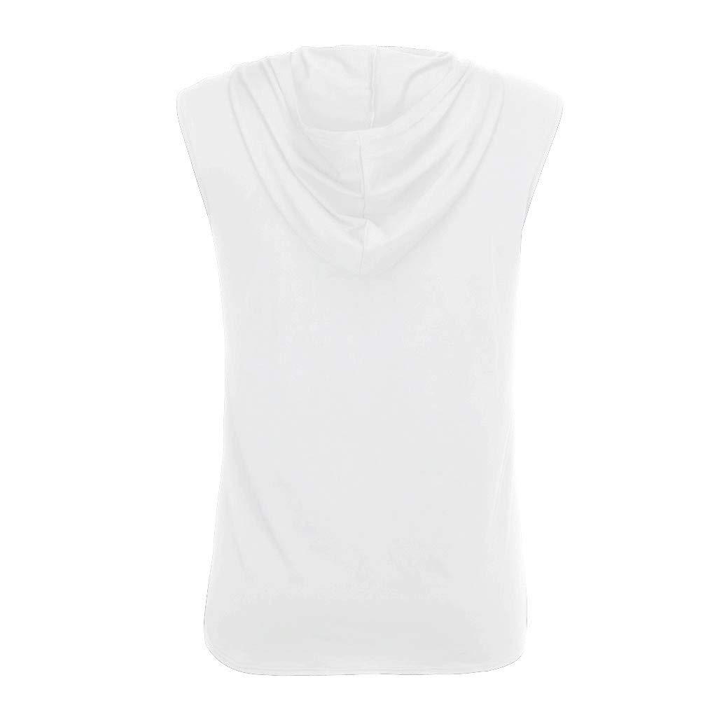 Camiseta de Tirantes Deporte Hombre,Ligero Transpirable Camisetas Tops sin Mangas Basica Fitness Gym Camiseta Deportiva t-Shirt Tejido Ligero de Secado r/ápido JiaMeng-ZI